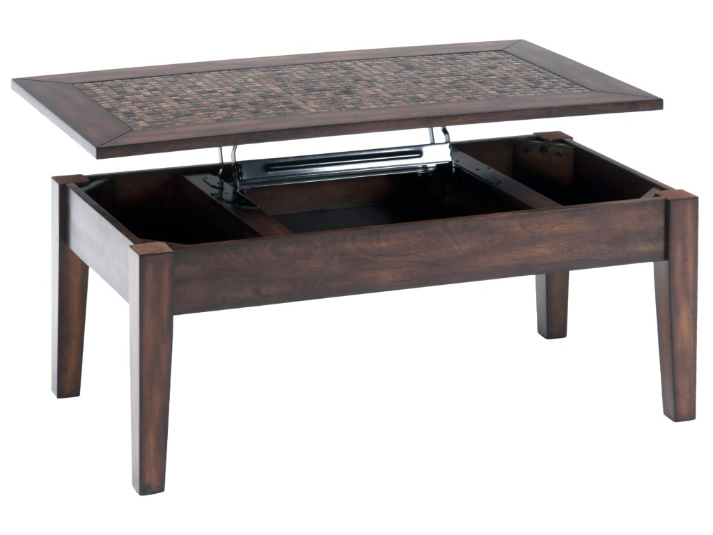 jofran baroque brown lift top cocktail table with mosaic tile inlay products color threshold accent brownlift wall file organizer ikea red home decor accents tray side end tables