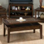 jofran baroque brown mosaic tile inlay lift top cocktail table occ showing accent media gallery vintage metal small battery operated lamps round iron coffee carpet trim dining 150x150