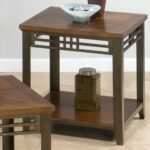 jofran barrington cherry end table with shelf inlay wood top products color accent metal apron and legs tables for small spaces gold console white leather sectional antique 150x150