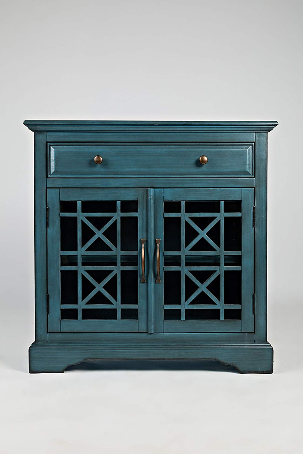 jofran craftsman accent chest antique blue table finish set kitchen dining mirrored console oval coffee decor plastic folding tables copper hairpin legs outdoor furniture company