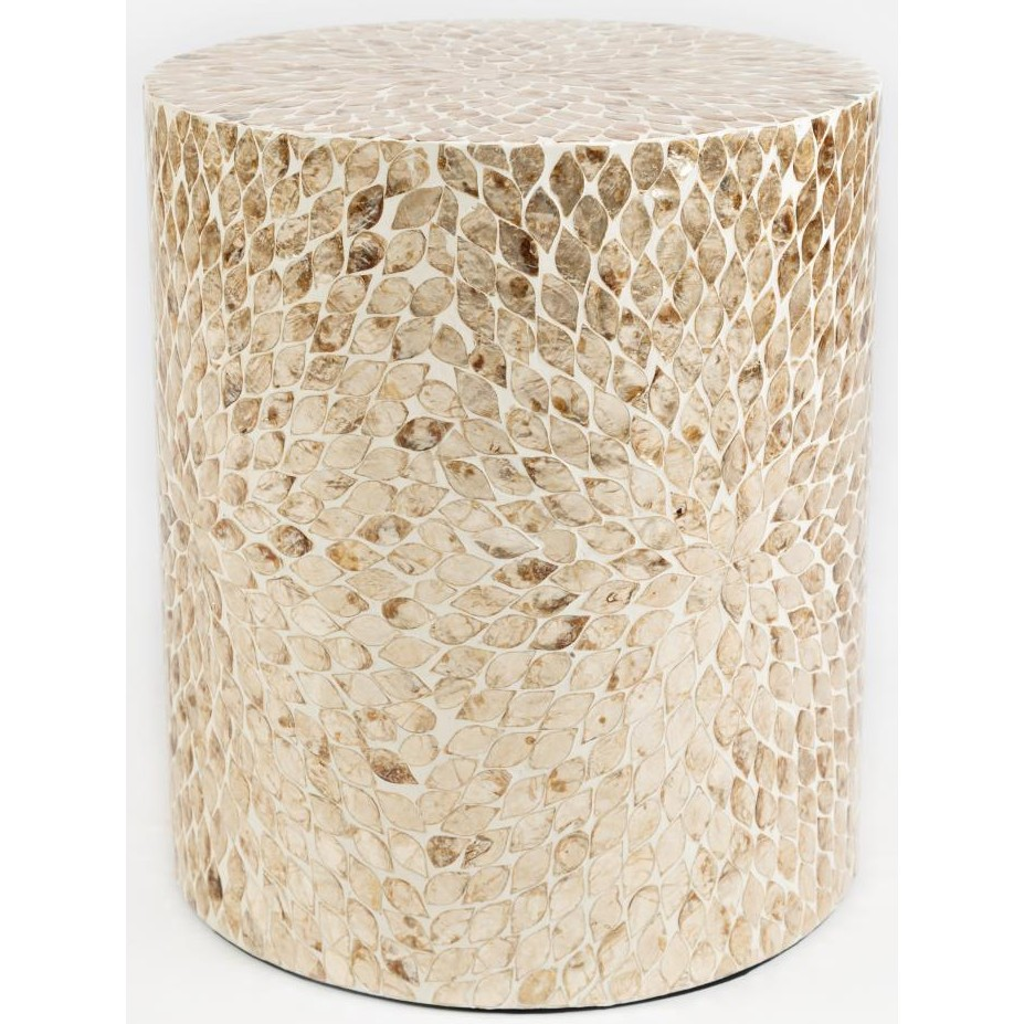 jofran global archive capiz drum accent table sand local front dining room furniture antique round white marble square coffee inch cover teal placemats and napkins mosaic patio