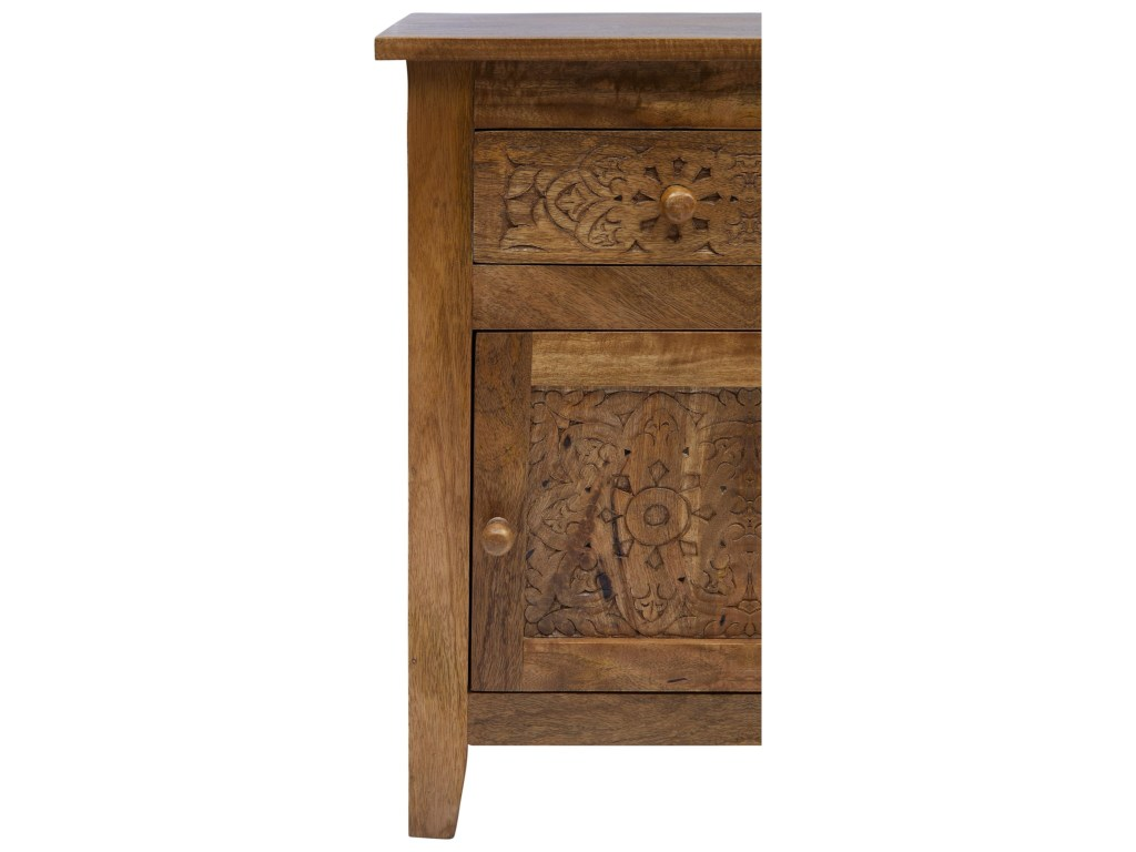 jofran global archive hand carved accent table steger furniture products color wood archivehand navy blue side frame patio drink door bars for laminate flooring unique light