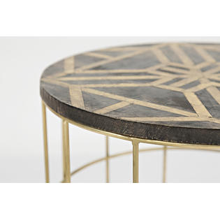 jofran global archive mango and brass accent tables piece set prod table with charging station black mirrored cabinet iron chairs console summer umbrella target leather sofa thin