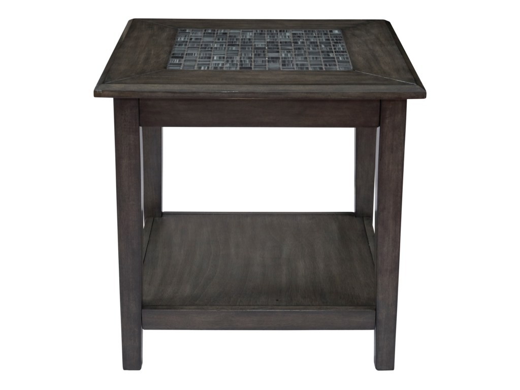 jofran grey mosaic end table homeworld furniture tables products color threshold accent winsome curved nightstand unfinished round small retro side garden storage box pottery barn