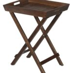 jofran urban lodge brown folding accent tray with handles fmg products color outdoor table plant holder coffee matching end tables storage bench cushion ikea dressing mirror and 150x150
