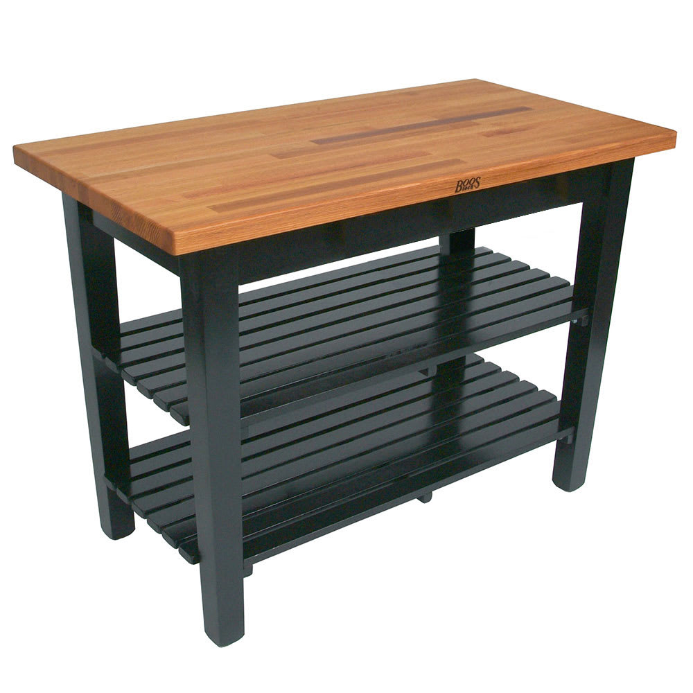 john boos american heritage oak table shelves end with black oval farm used dressers hidden drawer coffee norcastle sofa mexican corona furniture doors trundle petite recliners