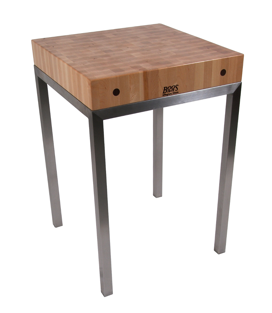 john boos butcher block table kitchen tables met wood accent metro station stainless steel frame wesley hall furniture brown bedside cabinets pottery barn jamie umbrella end small