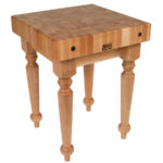 john boos butcher block table kitchen tables saratoga farm accent commercial maple spindle legs marble coffee brass round glass with gold base nautical themed side small 150x150
