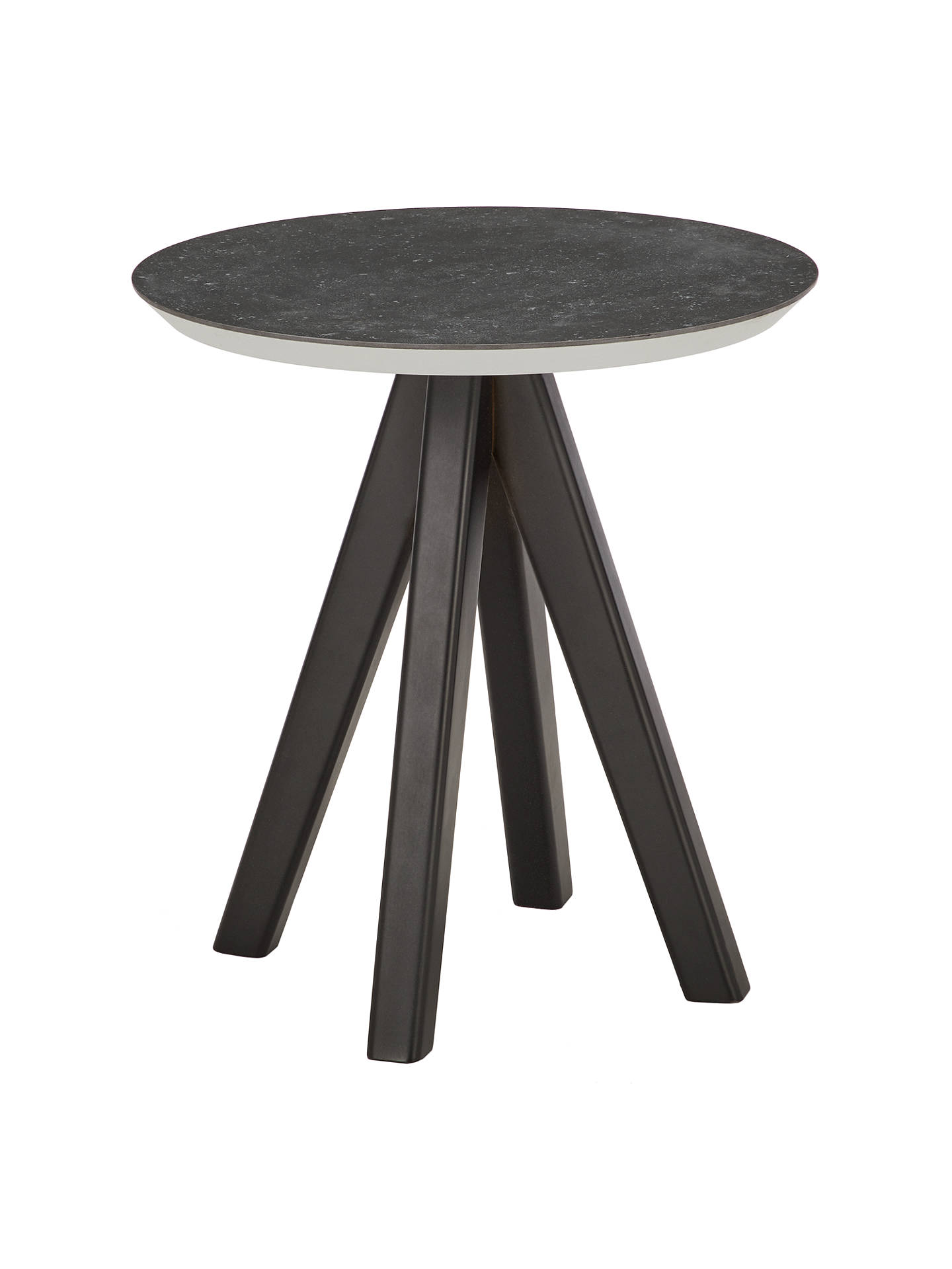 john lewis partners amalfi round side table wood accent black johnlewis marble cube home goods sofa reclaimed furniture unique patio umbrellas homesense chairs contemporary legs
