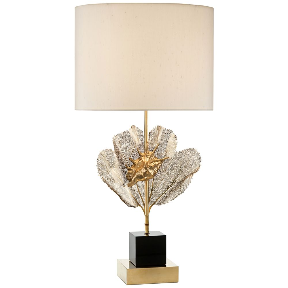 john richard brass sea fern and seashell accent lamp style table lamps contemporary vintage chairs small leather for spaces wall furniture black project display cabinet low