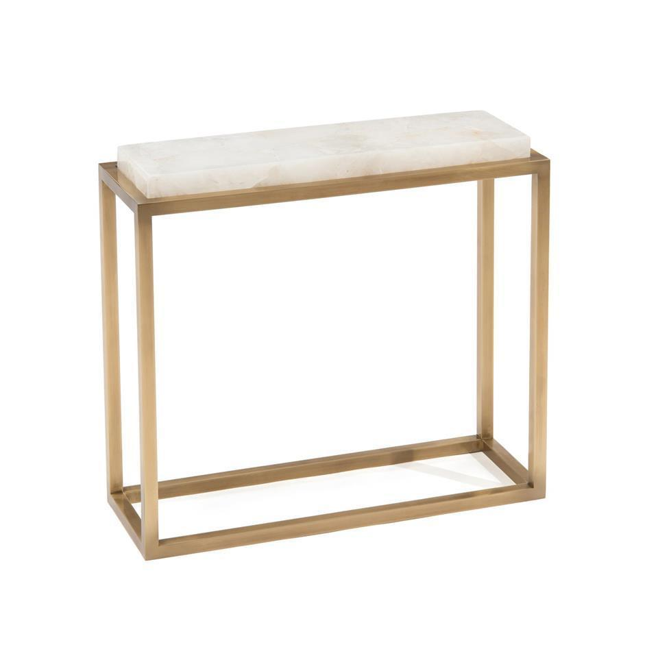 john richard calcite and antique brass accent table grayson living jfd main small cloth outdoor chair cover round trunk end broyhill with usb metal wine rack furniture dining room