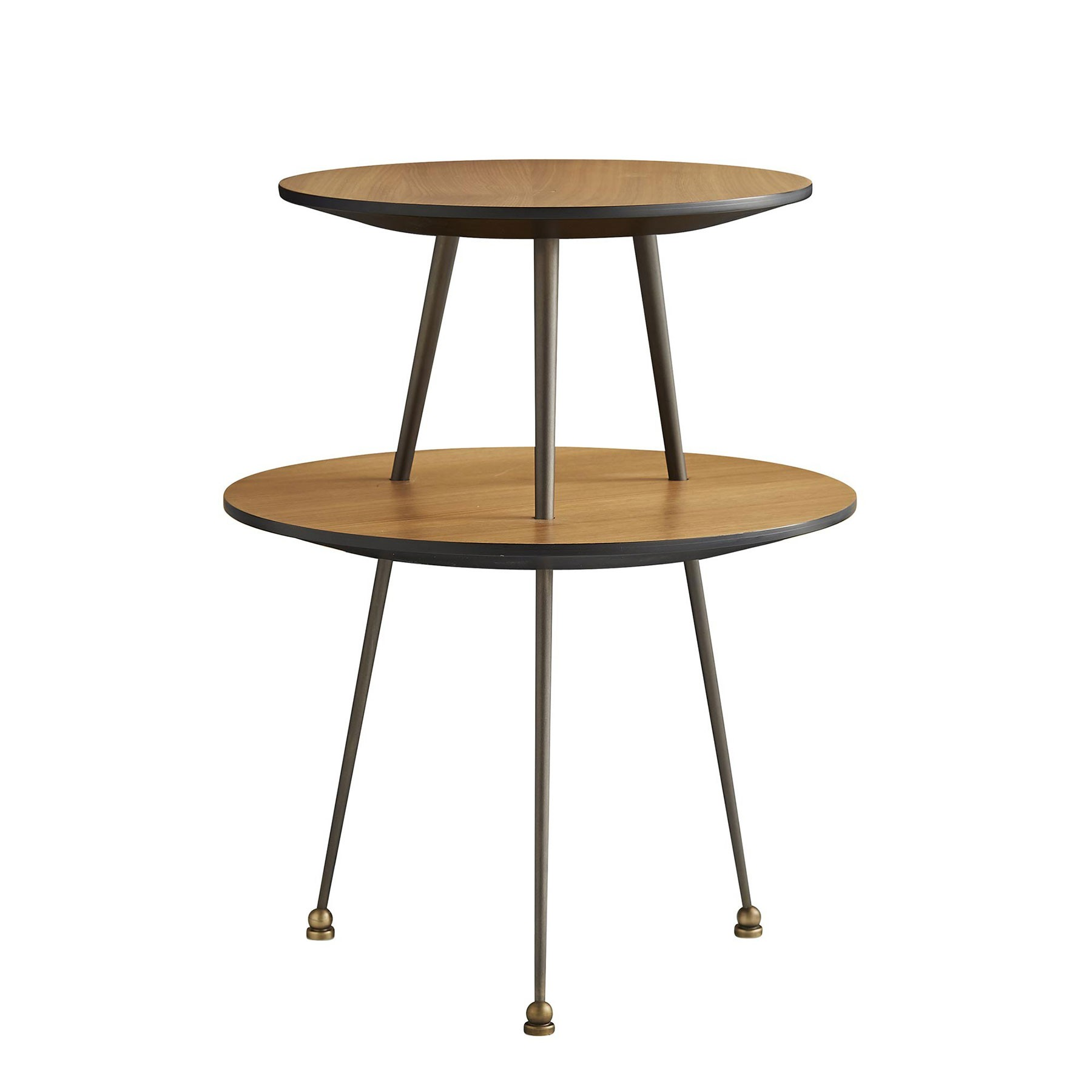 jolie accent table tiered midcentury modern arteriors metal pub height kitchen plant stand garden beer cooler free coffee chest white round nesting tables vintage scandinavian