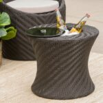 jolla outdoor wicker accent table with ice bucket christopher knight home free shipping today living room accessories ideas slender console rose gold bedside lamp rustic pedestal 150x150