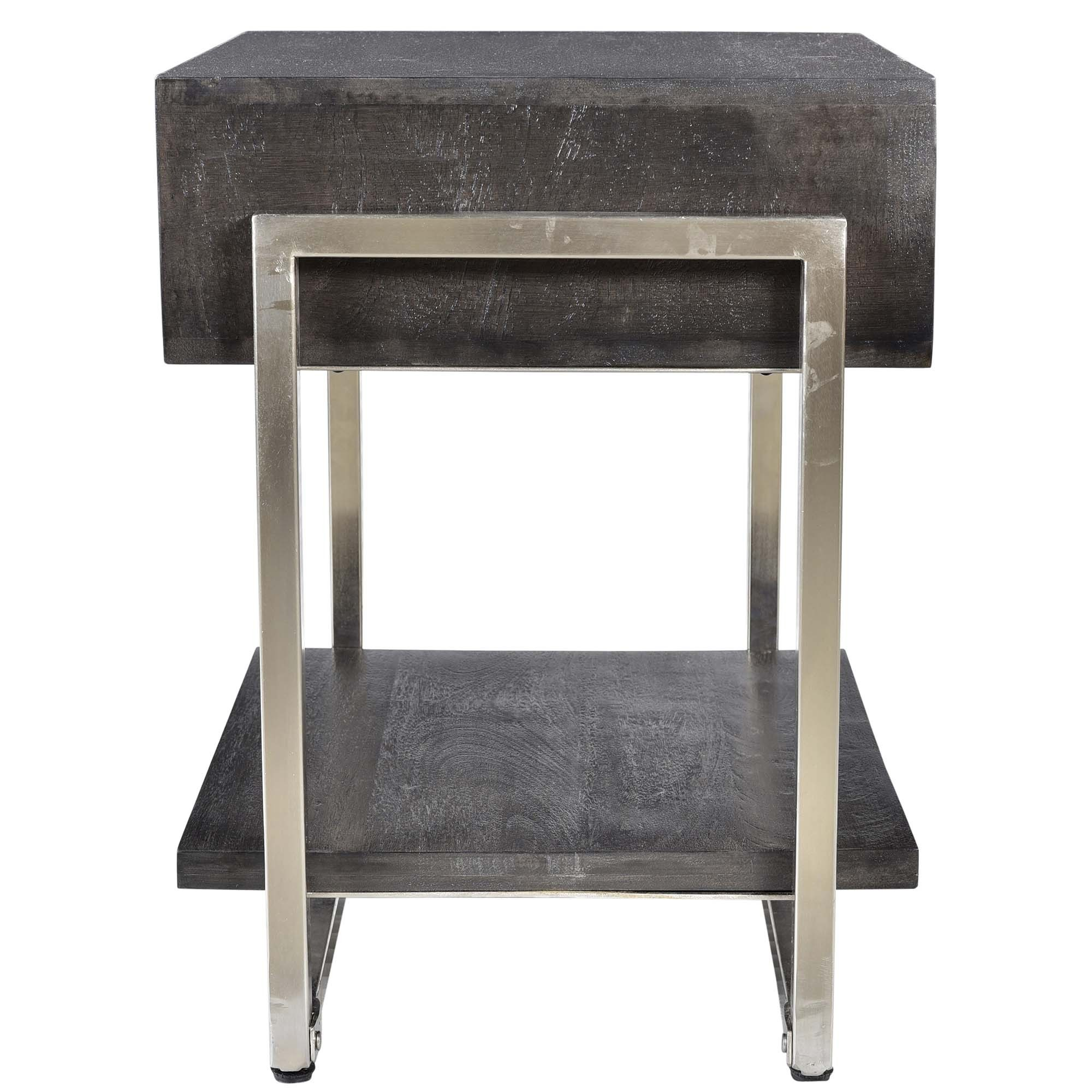 jonas accent table dark grey tables furniture gray ikea storage boxes metal threshold bar black outdoor umbrella long skinny side linens and glass sofa wood coffee work acrylic