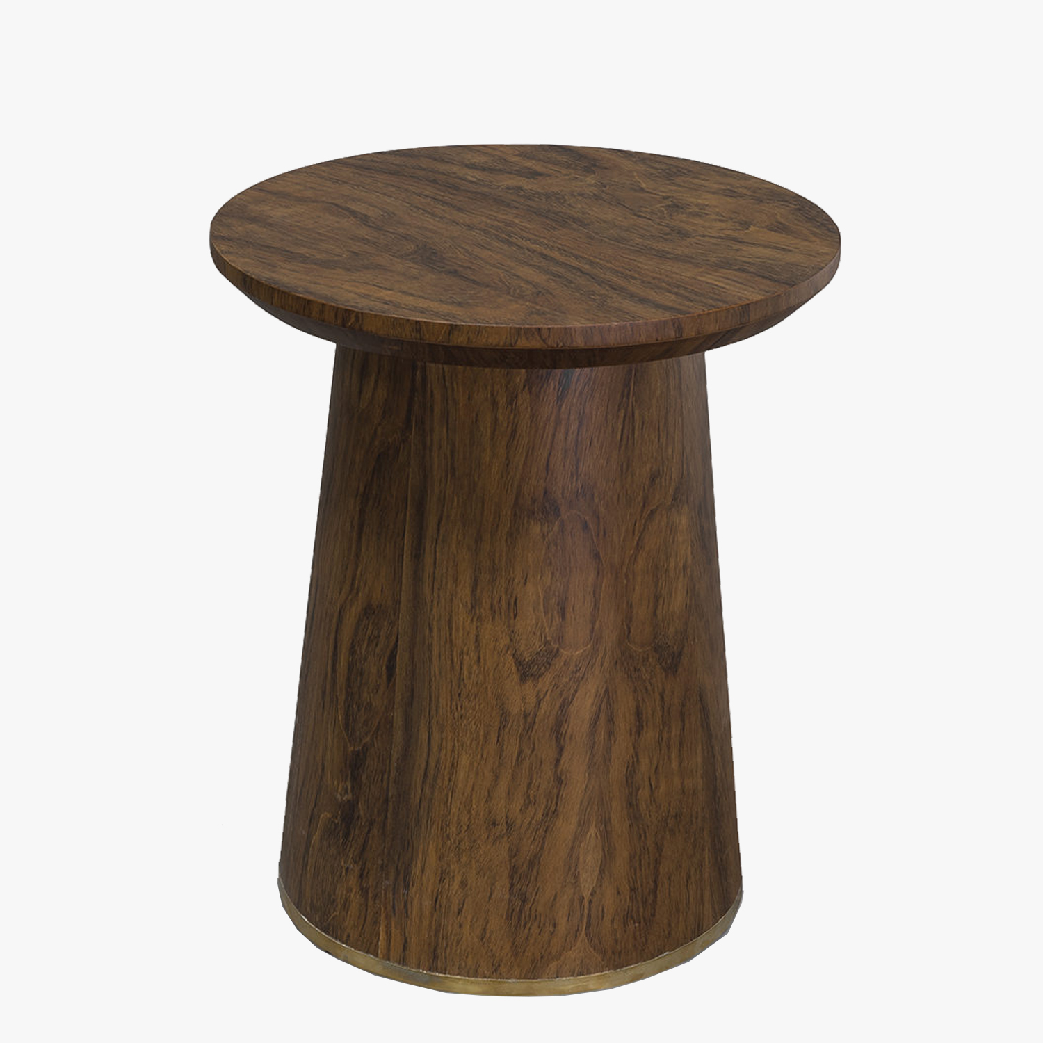 jonas veneer round side table palecek tables dear keaton small accent under backyard furniture lamps for bedroom half circle console dark rustic coffee dining room legs wood