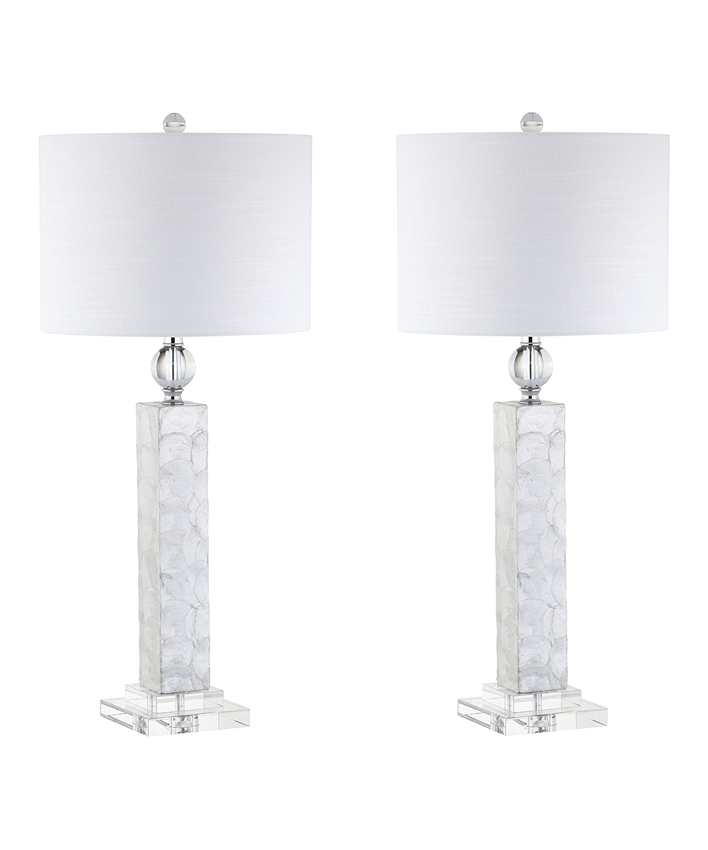 jonathan white crystal accent bailey led table lamp set two main share french furniture marble gold coffee lighting portland antique retro support glass tea blue and porcelain