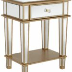 joslyn drawer gold mirrored end table apartment accessories accent with small battery powered lamps book stand vintage round oak champagne furniture white and silver coffee unique 150x150