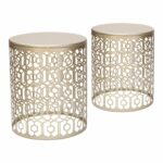 joveco metal iron strip structure stool end table side round gold asian lamps holiday party centerpieces coastal home decor patio set covers led vanity mirror acacia wood dining 150x150