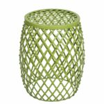 joveco stylish metal drum wire round end table side outdoor sofa green kitchen dining mid century modern chairs furniture sets accent home decor ornaments chair with usb port very 150x150