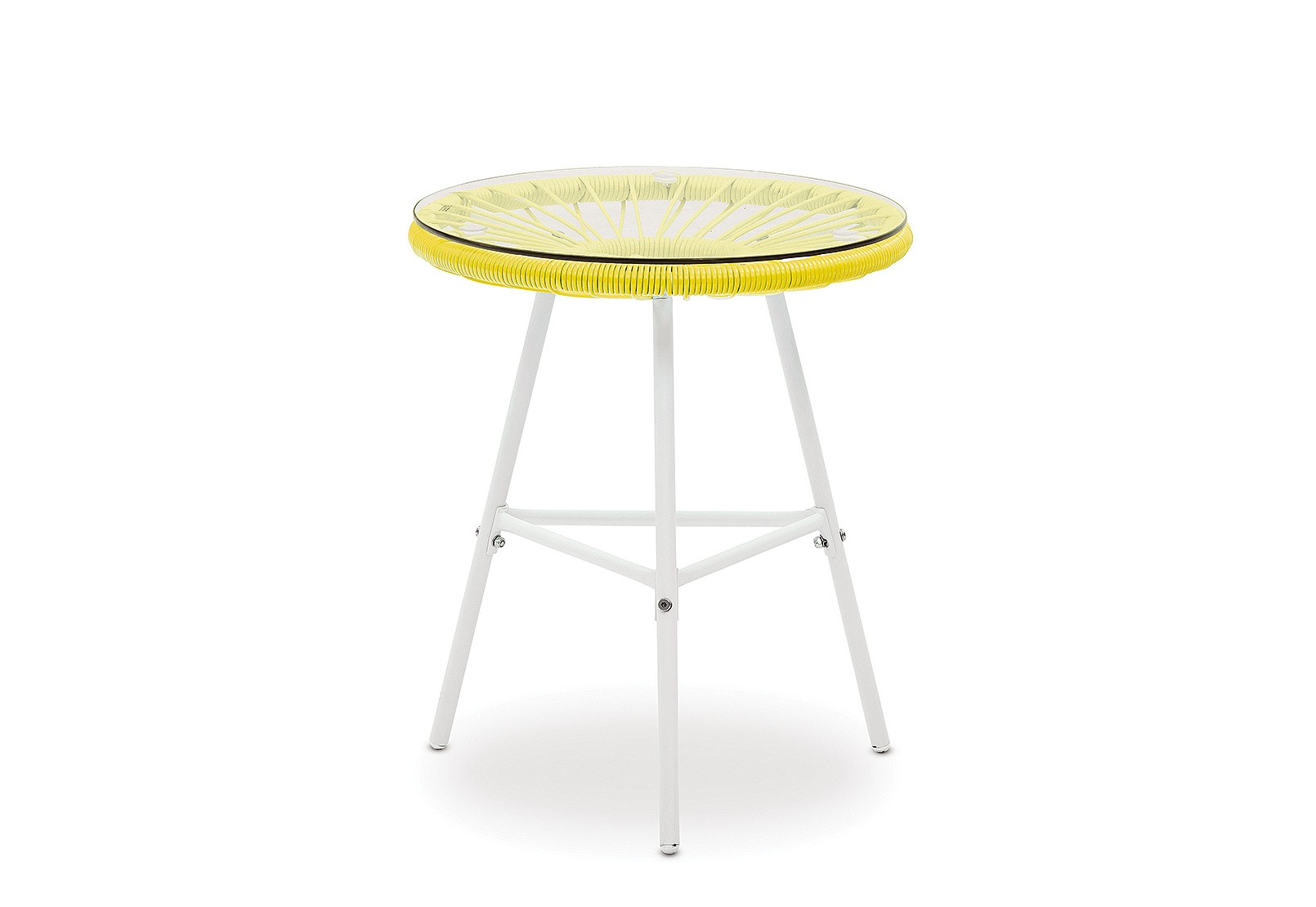 joy outdoor side table with white frame amart furniture yellow accent metal patio tables small lounge clearance and chairs cherry wood one drawer threshold turquoise coffee hoodie