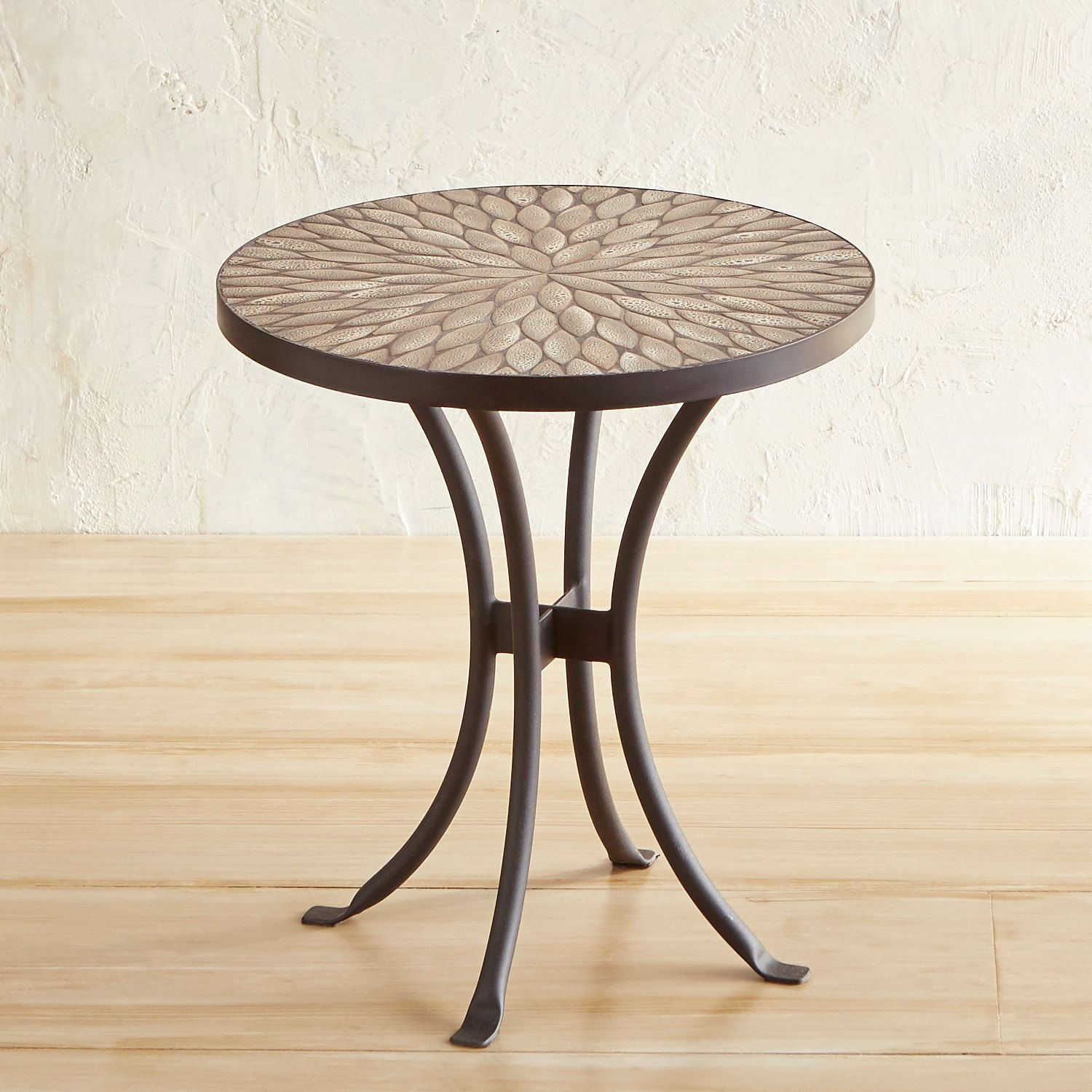 jules gray pebbles mosaic accent table west elm free shipping code modern style end tables drawer console tablecloth for round patio chairs wooden plant stand curved acrylic