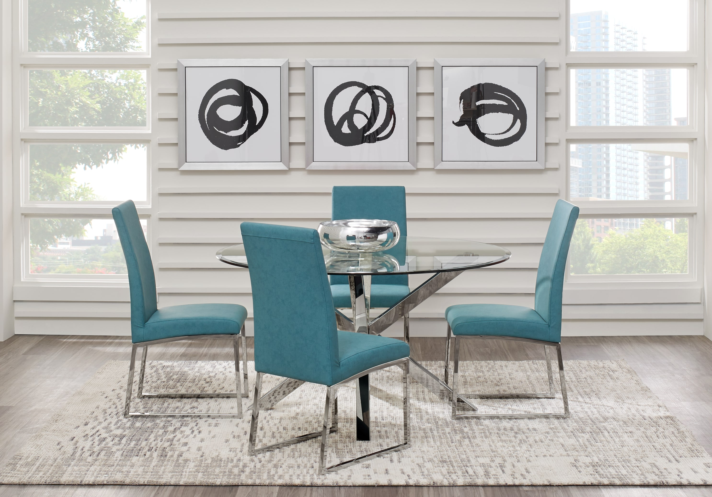 jules ocean dining set room sets metal accent table small leather chairs for spaces modern style end tables antique oak wooden garden side west elm pendant light pulaski furniture