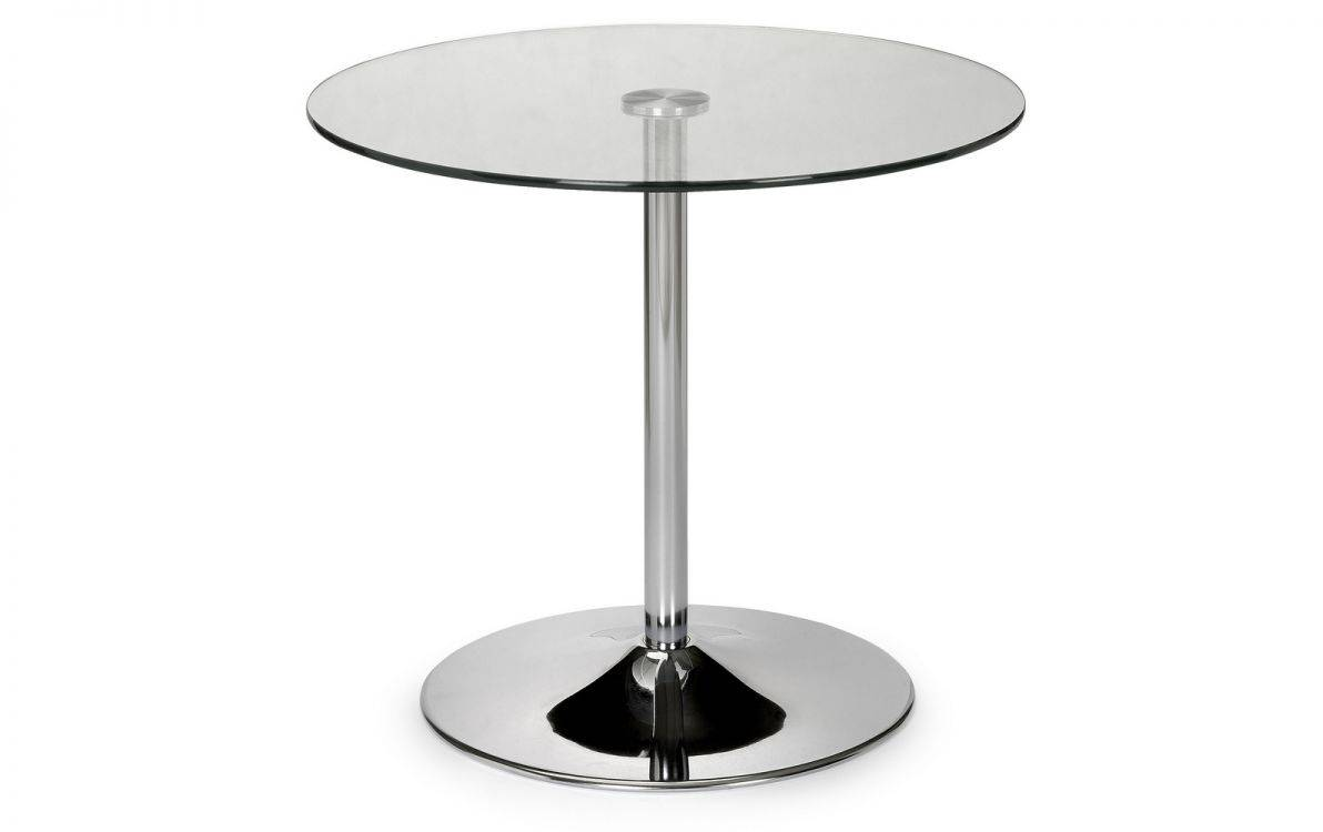 julian bowen kade glass chrome round dining table tables accent oval circular fit furnish yeovil somerset piece chair set ikea wall cabinets bedroom couch and loveseat laminate