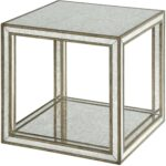 julie mirrored accent table from uttermost coleman furniture laton inside west elm tripod floor lamp meyda tiffany lamps silver trunk coffee cloth tables side with umbrella hole 150x150