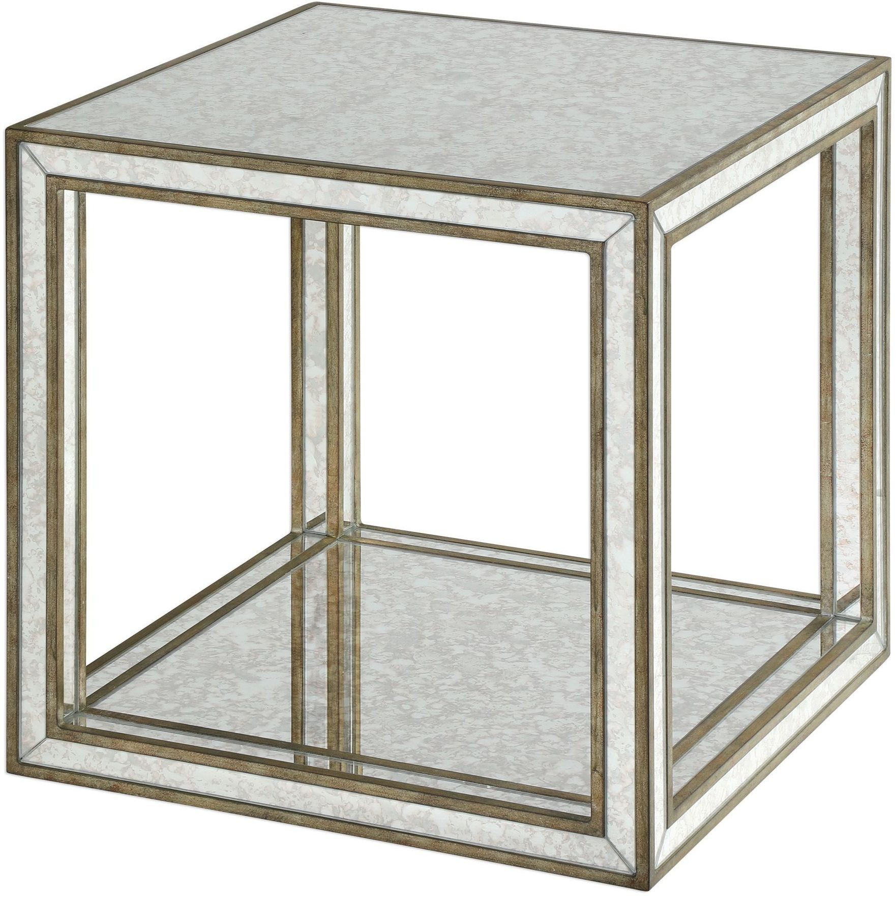 julie mirrored accent table from uttermost coleman furniture laton inside west elm tripod floor lamp meyda tiffany lamps silver trunk coffee cloth tables side with umbrella hole