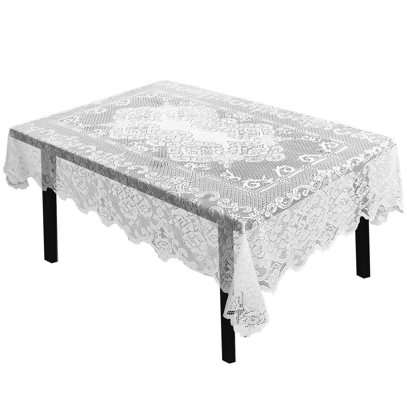 juvale lace tablecloth rectangular with for inch round accent table elegant floral patterns perfect birthday parties wedding receptions baby showers pier imports dishes west elm