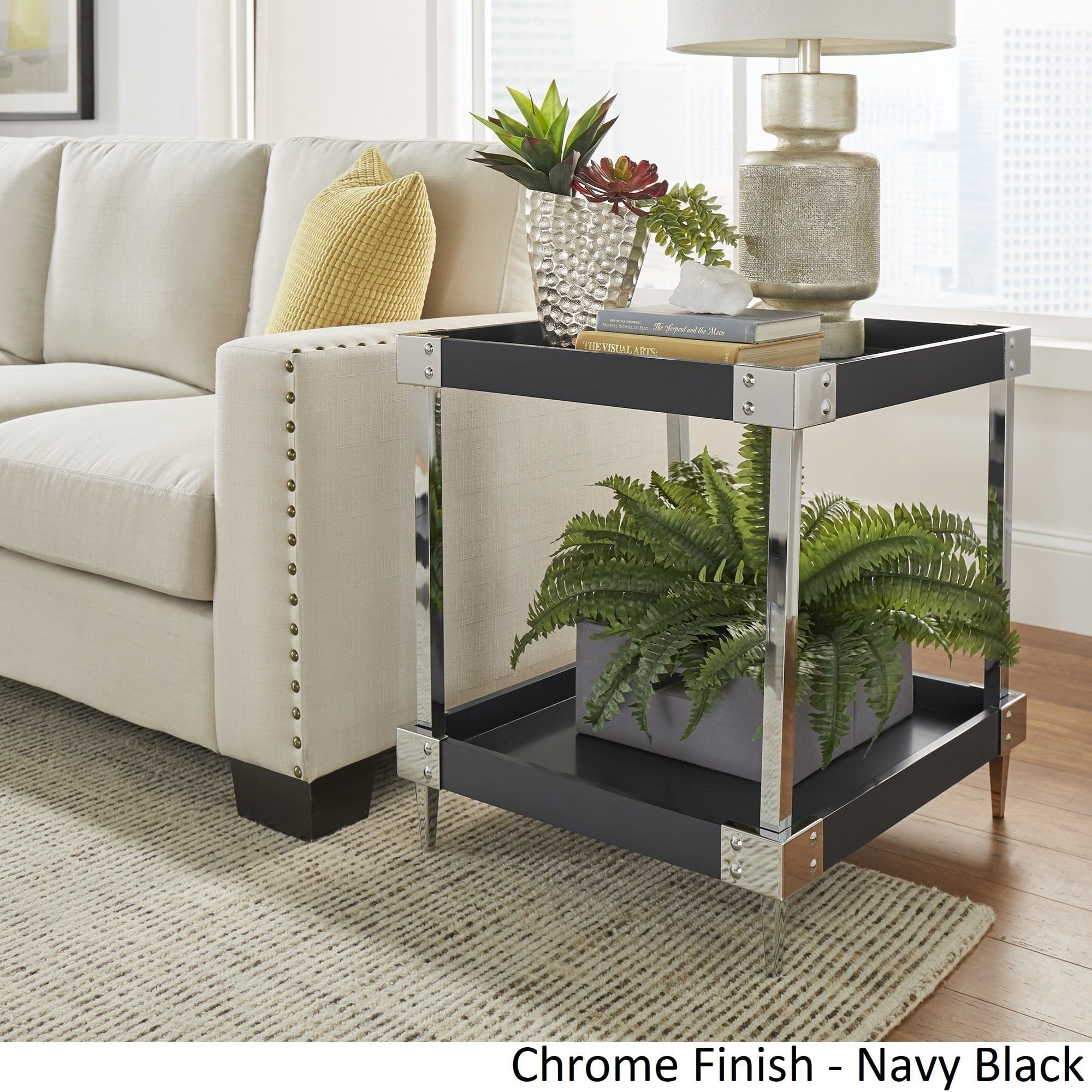 kaila modern metal accent end table nightstand inspire bold unique tables pier one christmas pillows black lamp legs ikea extra long sofa brass oriental lamps coffee bedroom sets