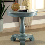 kalea antique teal round accent table plank style top wine cupboard target furniture coffee mirrored and end tables inches high sofa height large garden umbrellas small side for 150x150