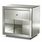 kaplan hollywood regency glamour style mirrored drawer nightstand accent table reviews joss main ashley furniture glass small foyer footstool coffee what sheesham wood short 150x150