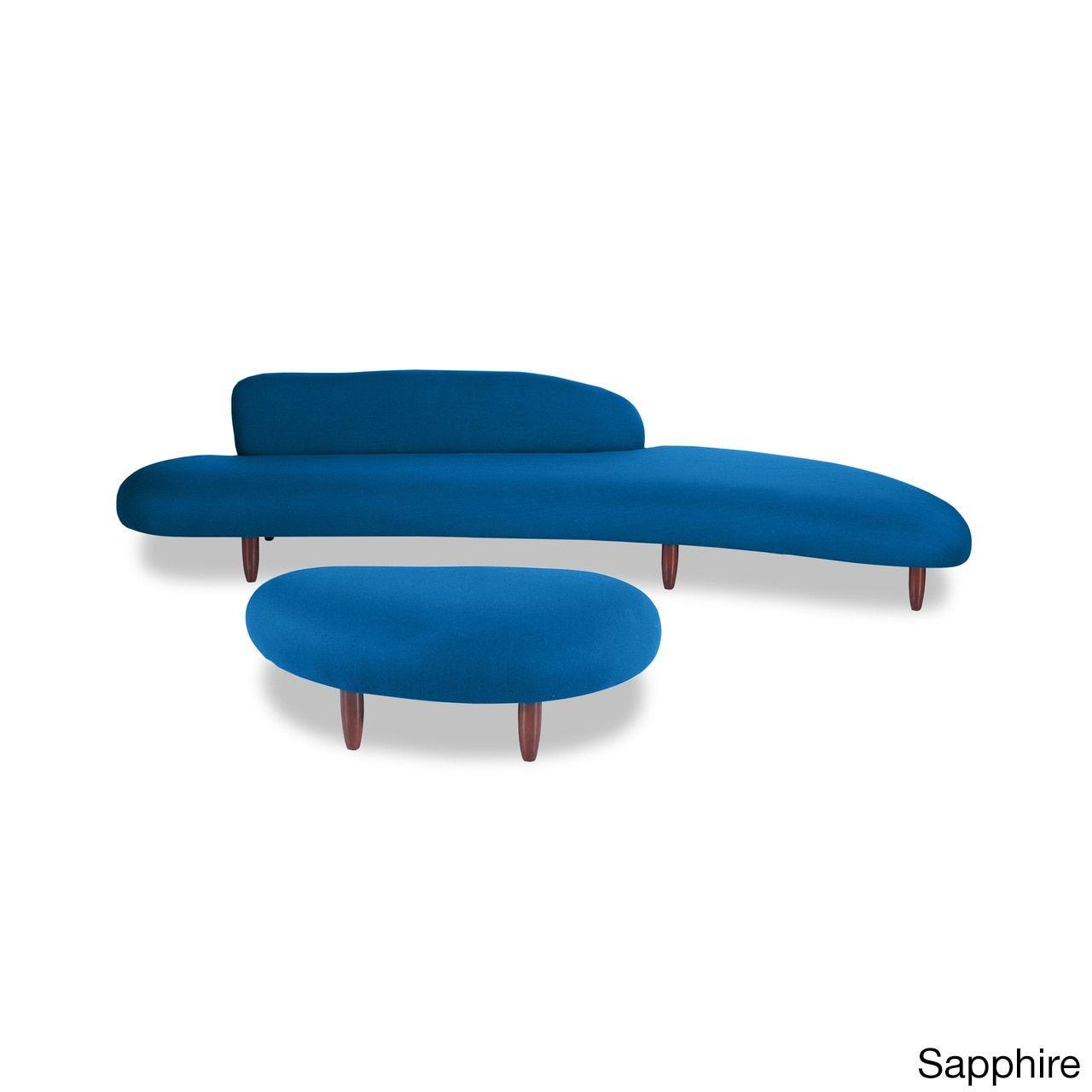 kardiel kidney bean mid century modern sofa ott cashmere wool miles redd accent table walnut legs bedside tables corner study desk contemporary floor lamps solid oak ashley