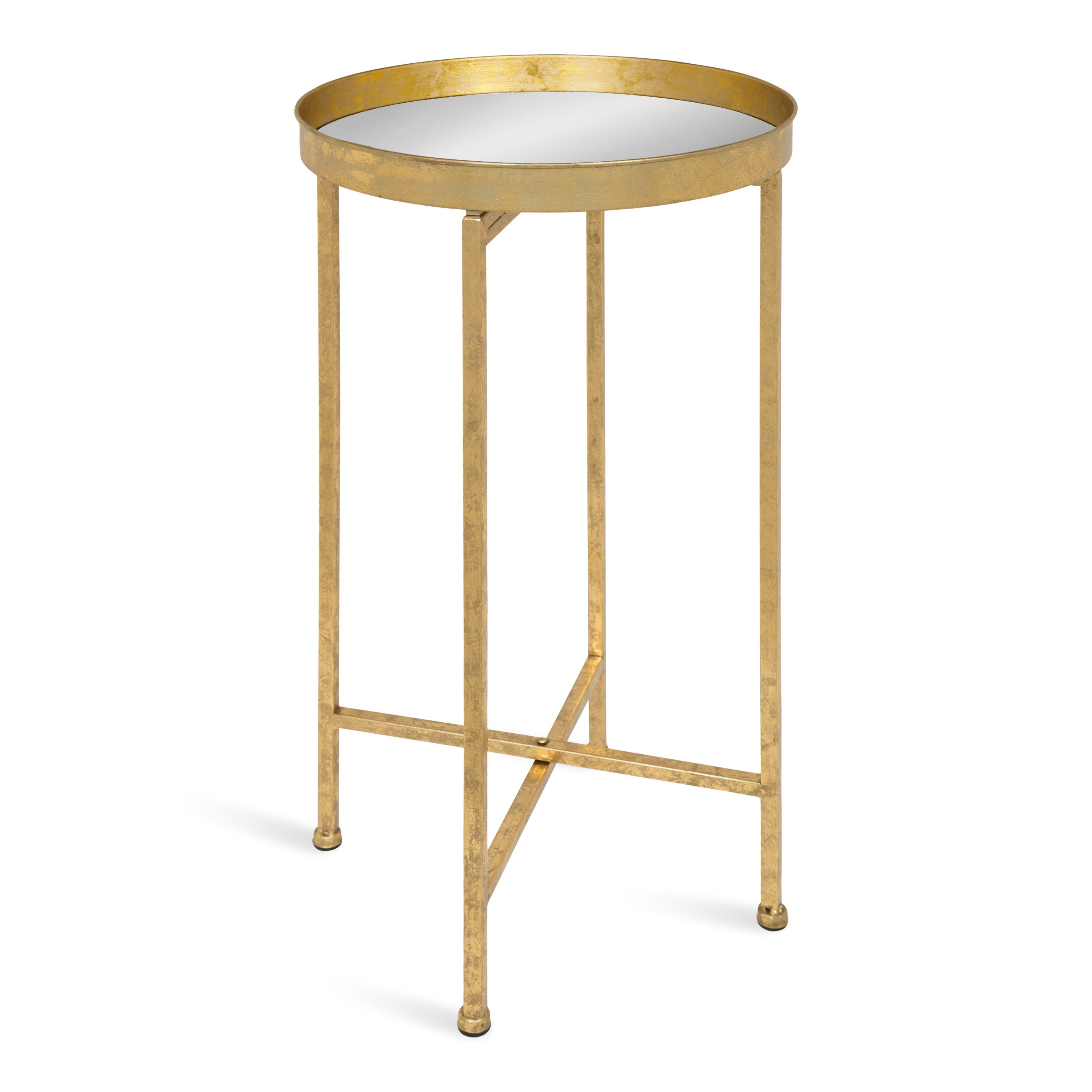 kate and laurel celia round metal foldable tray accent table cardboard free shipping today designer glass coffee tables white marble brass pier one bedroom sets long narrow ikea