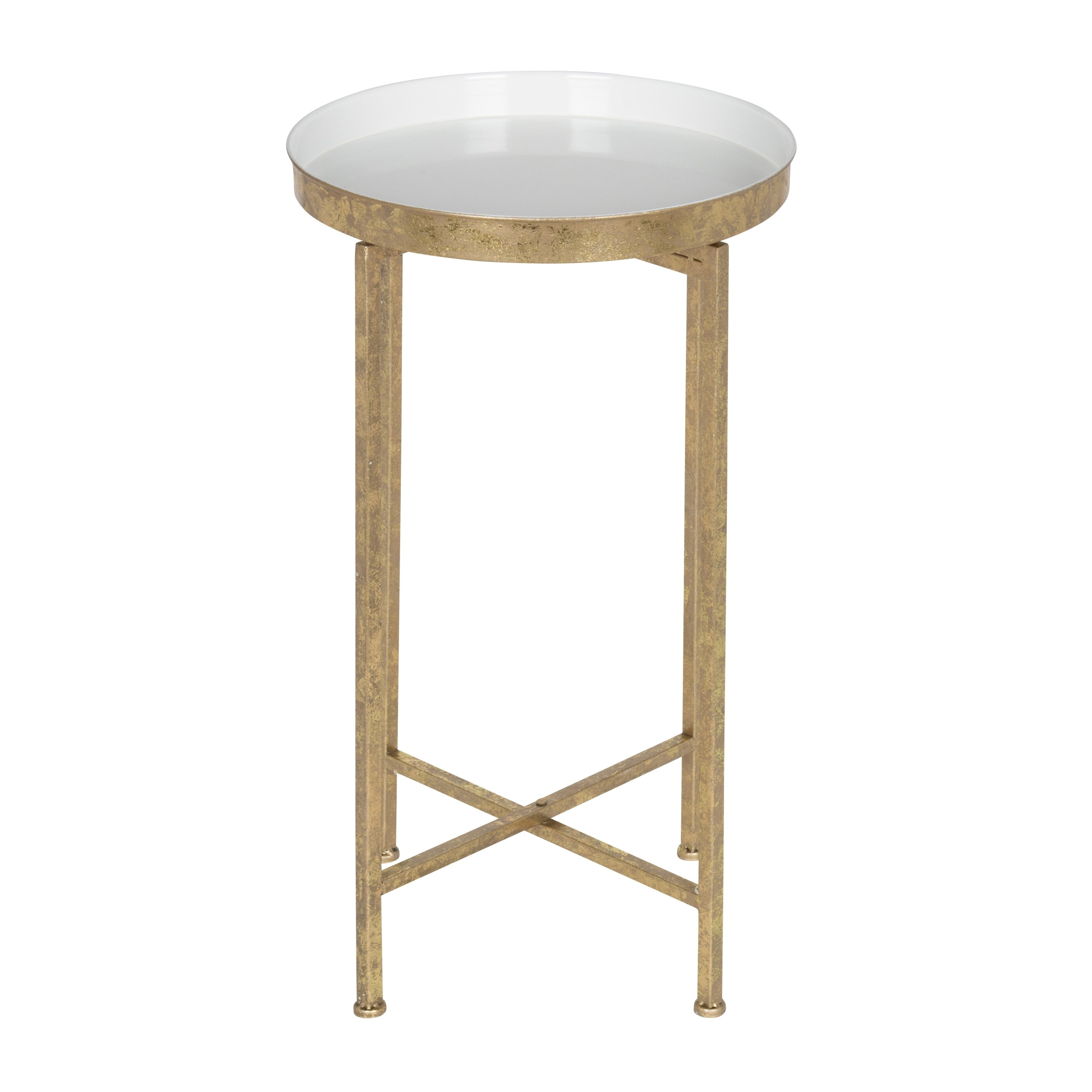 kate and laurel celia round metal foldable tray accent table cardboard free shipping today stone top coffee sets high bar usb port side cover ethan allen fabrics all weather patio