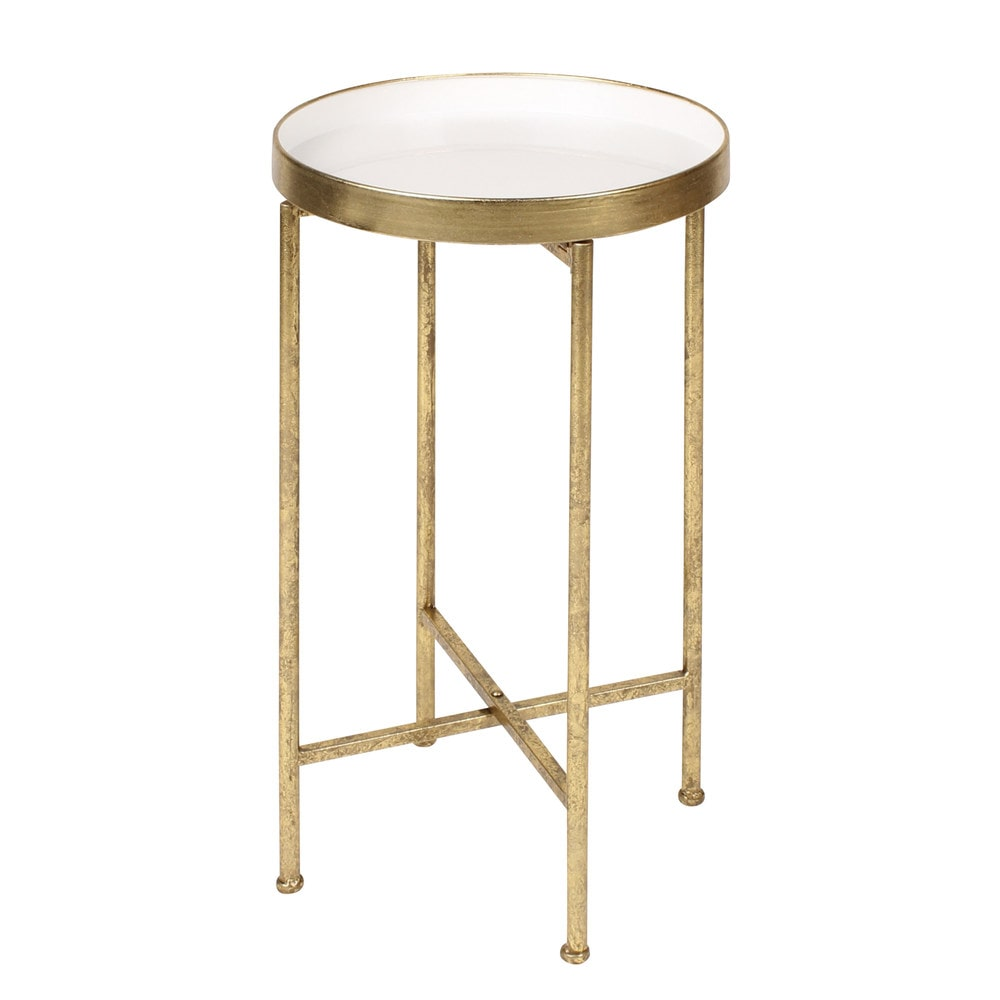 kate and laurel deliah round metal accent table end skinny homepop gold small antique hall vintage coffee black dining chairs ceramic ginger jar lamps solid wood console rustic