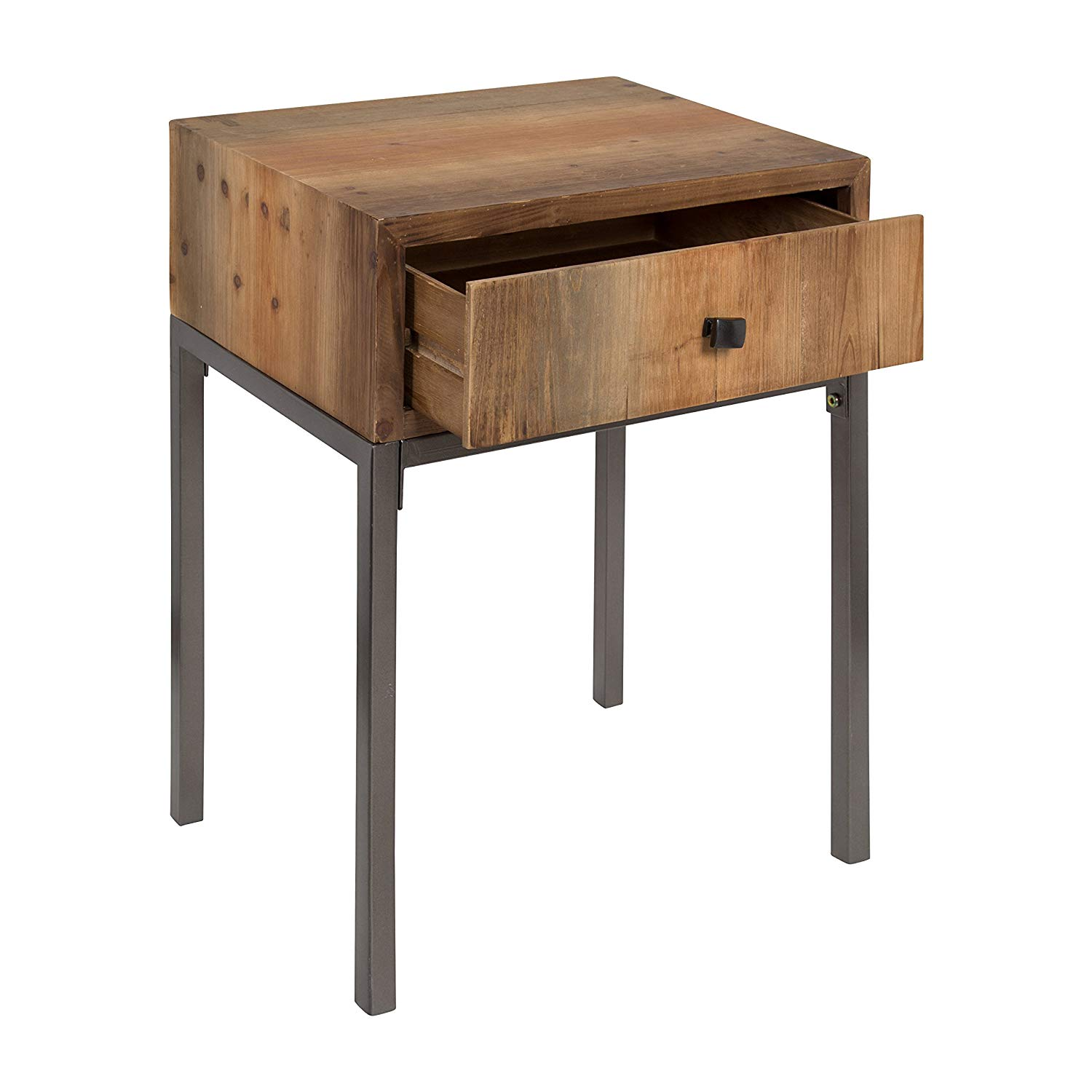 kate and laurel freya wood side accent table with drawer round rustic brown kitchen dining the range bedside lamps wooden drawers build small luxury black cherry coffee vintage