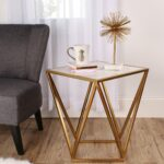 kate and laurel maia metal side accent table with marble top gold cherry wood dining set ikea coffee tables couch jcpenney rugs clearance hampton bay posada outdoor stool high end 150x150