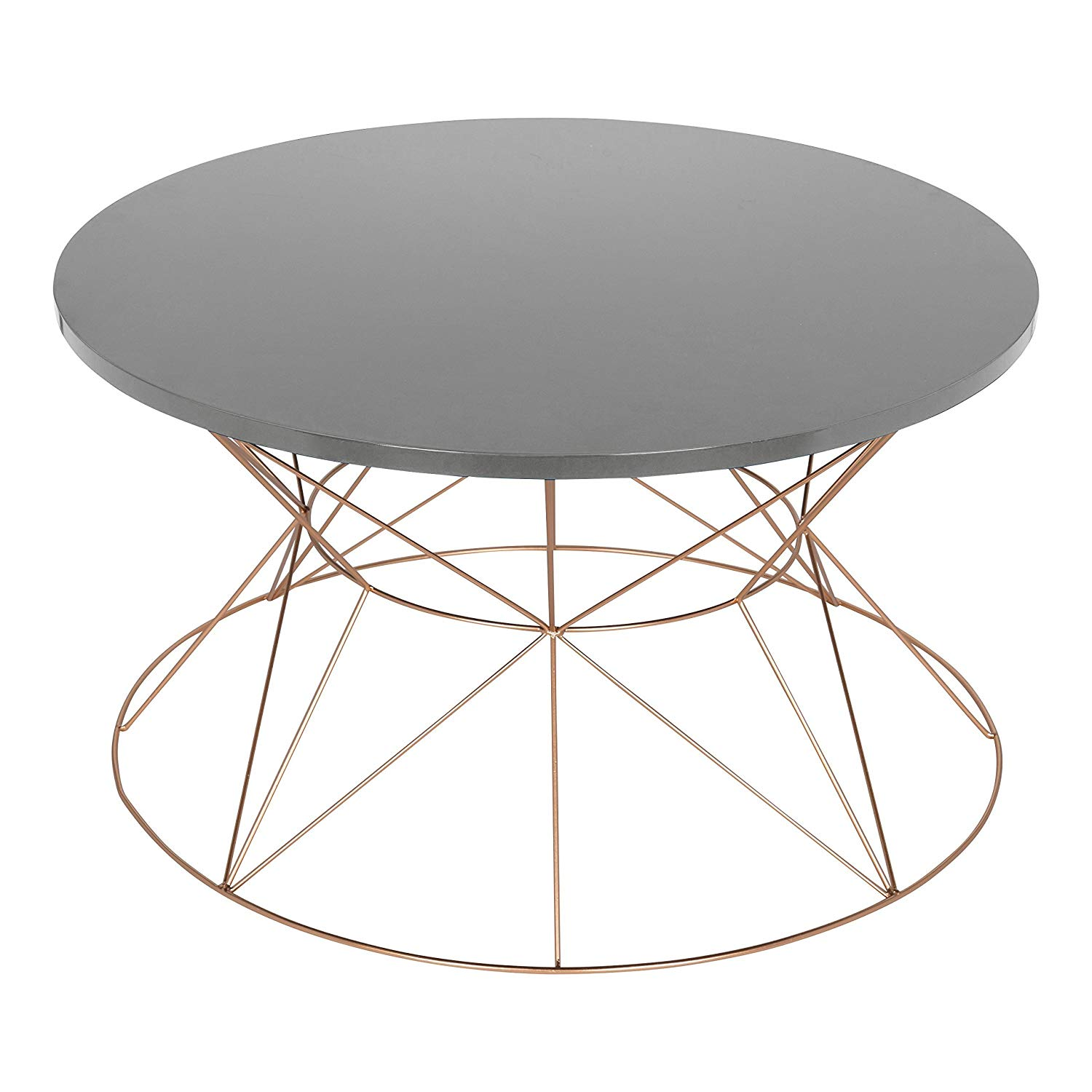 kate and laurel mendel round metal coffee table gray accent top with rose gold base kitchen dining pier one imports patio furniture small decorative chest drawers red black end