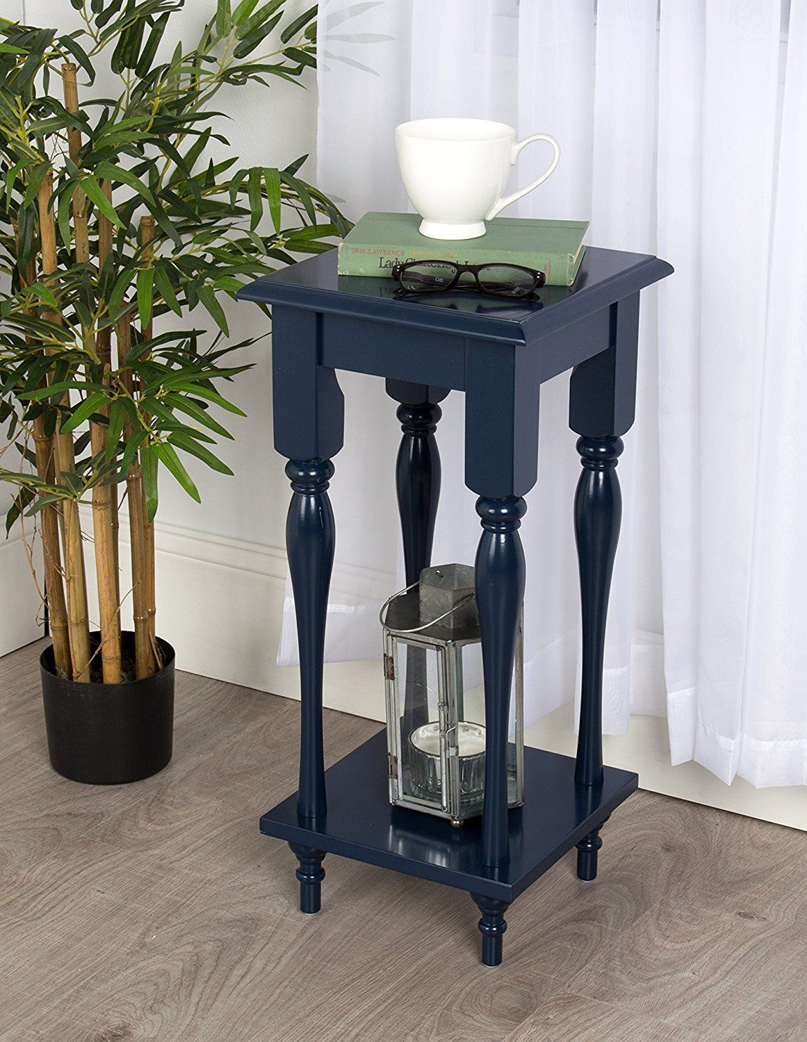 kate and laurel sophia rustic wood top plant stand end table with accent shelf navy blue comfortable drum throne dale tiffany stained glass lamp shade vintage drop leaf dining