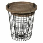 kate and laurel tenby nesting metal wood tray accent wire basket table end tables black home kitchen mirrored bedside ikea high top pub chairs large coffee outdoor red cloth side 150x150