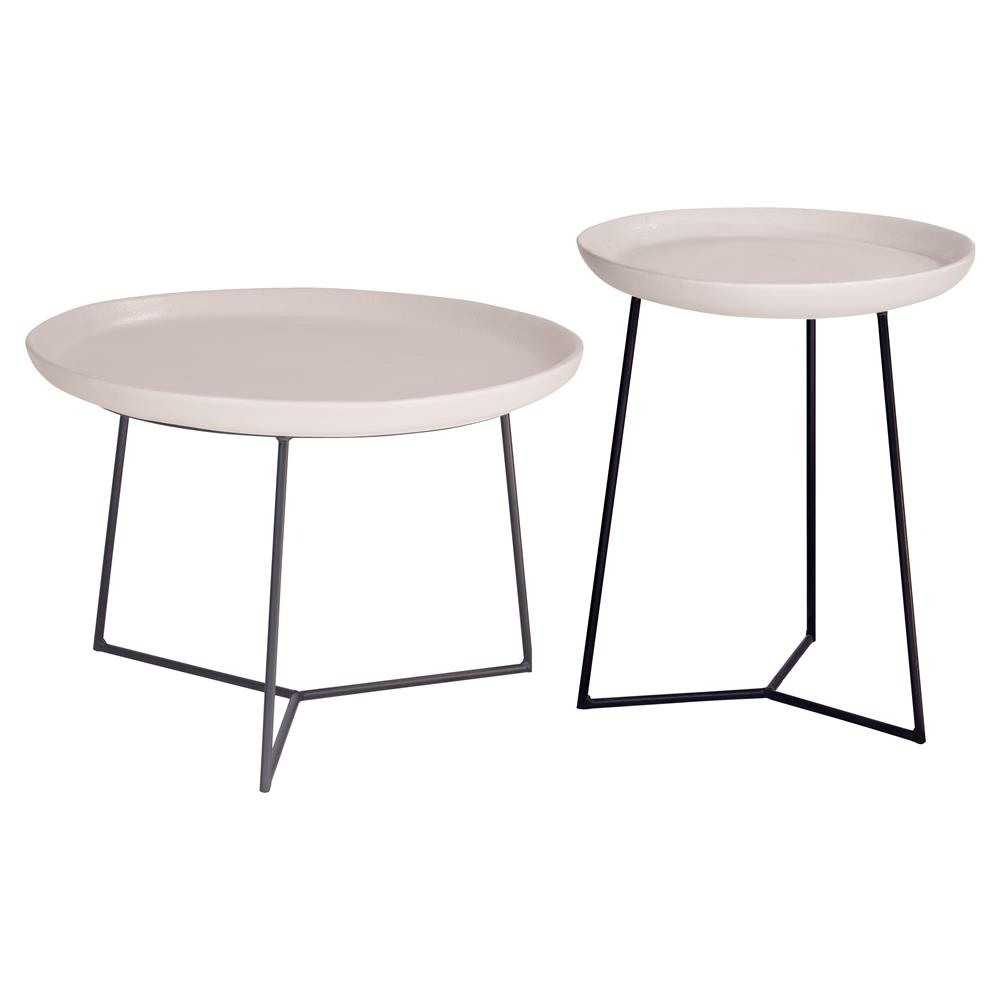 kate modern round white ceramic top metal outdoor side end table product kathy kuo home brass glass teak garden furniture barn door dining room hampton bay piece coffee set