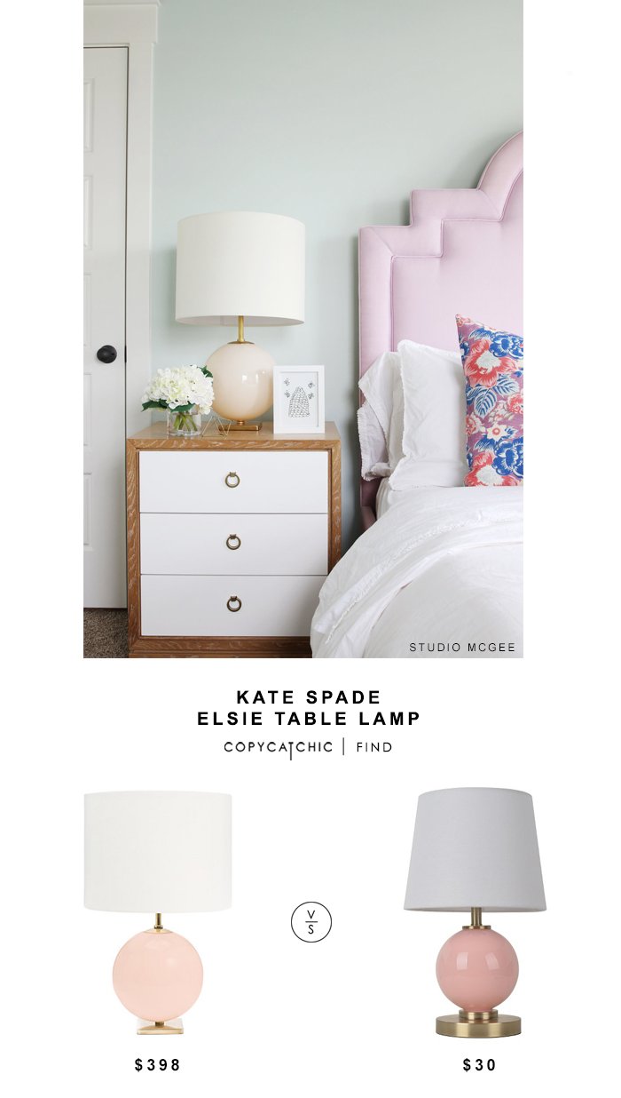 kate spade elsie table lamp copycatchic look for target pink marble accent pillowfort glass shelby chest ethan allen beds antique wood top side tiffany style shades set mango
