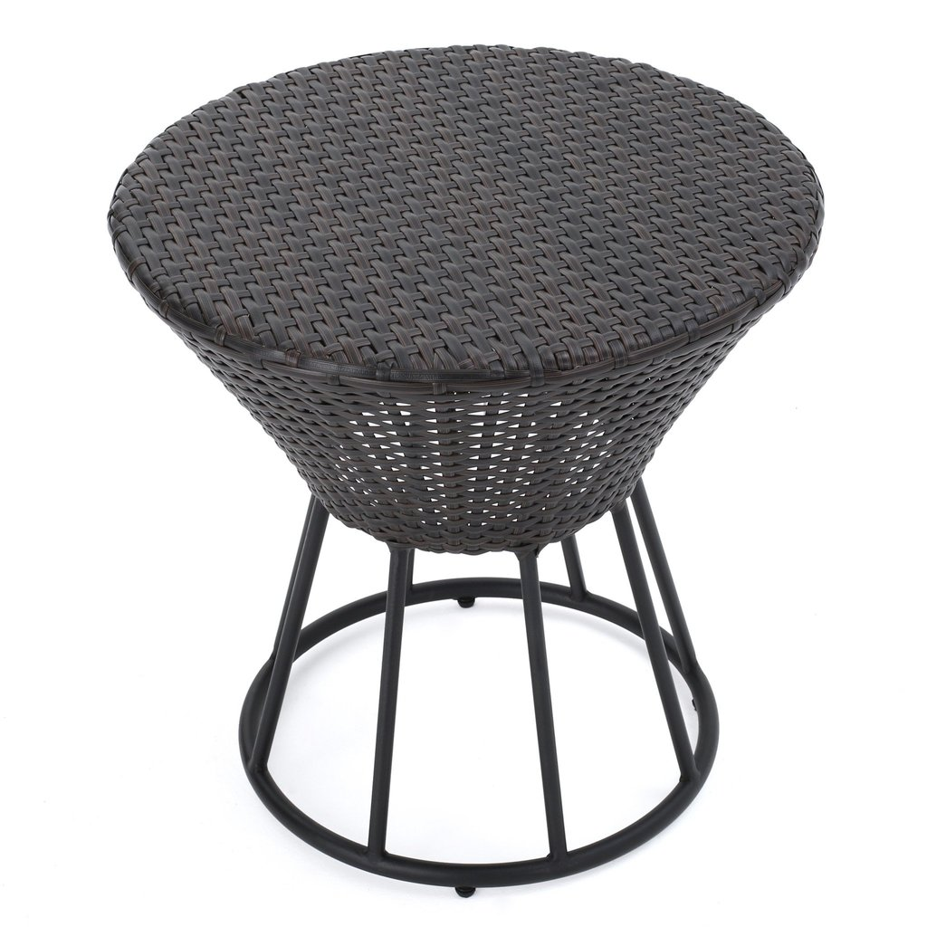 kavala wicker outdoor accent table gdf studio lack nightstand living room accessories ideas modern lights metal threshold bar slender console wall mounted building legs mirimyn