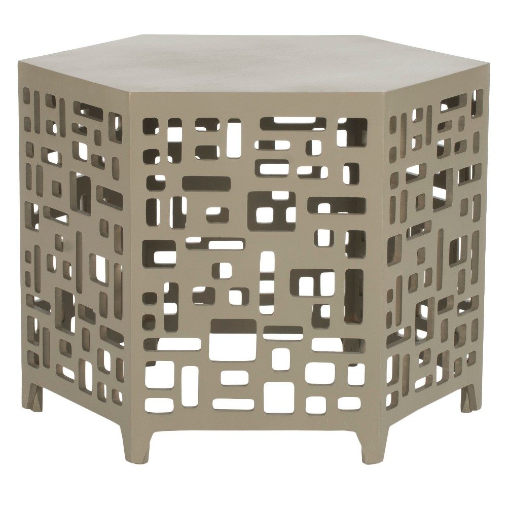 kelby end table safavieh pearl taupe products janika accent small wine cabinet mid century modern furniture reproductions west elm shelves mapex drum stool patio dining clearance
