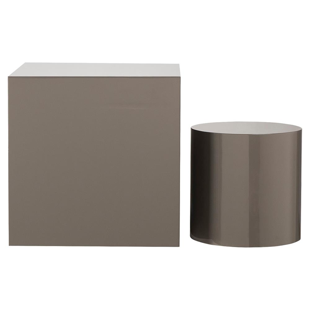 kelly hoppen morgan modern classic dark grey cube accent table product wood kathy kuo home narrow oak console nest tables ikea rain drum patio tray concrete garden coffee toronto