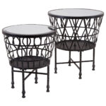 kelsey wrought iron accent tables set inch high black table headboard with lights french round side decorations skinny ikea balcony furniture wicker barn door pantry square 150x150