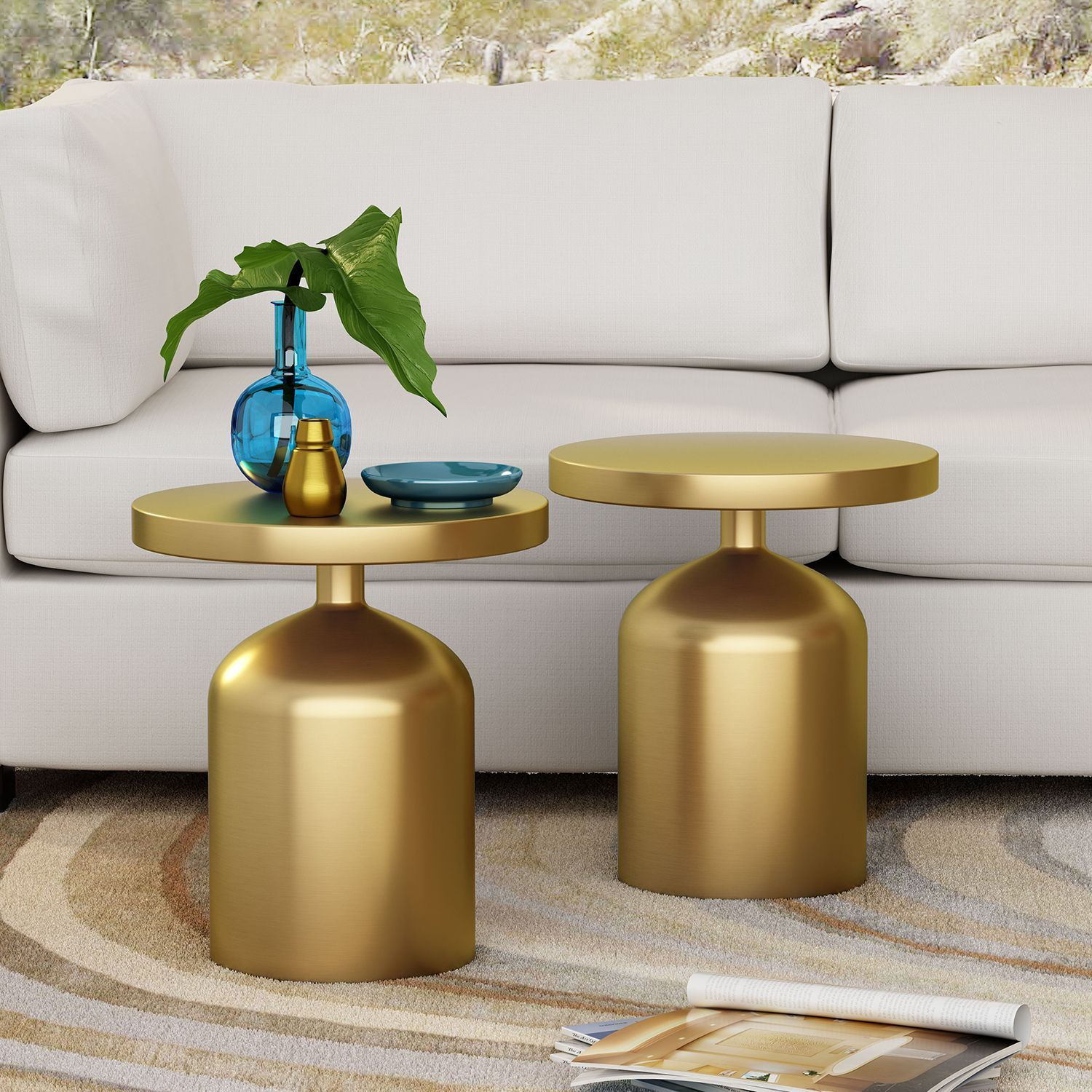 kendal brass accent table living room end tables round chair patio set target wall art marble lamp inch cover outdoor storage cabinet waterproof coffee small white console rustic