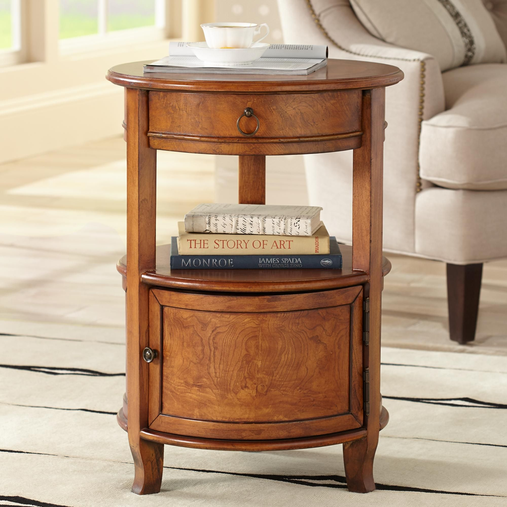 kendall cherry round accent table maison living room wood tables long foyer pool covers bunnings metal bookshelf reading lamp eero aarnio ball chair threshold windham coffee